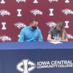 Courtney Kelly signs letter of intent