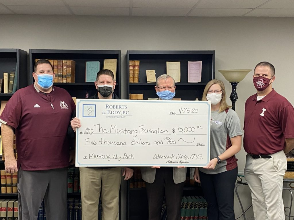 Roberts and Eddy donates to Mustang Way Park campaign