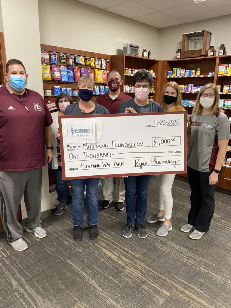 Ryan Pharmacy donates to Mustang Way Park campaign